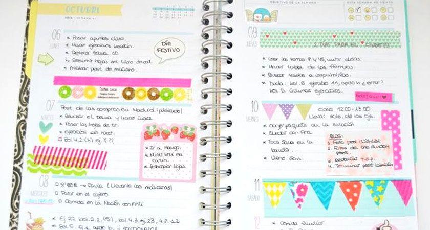 como decorar una agenda
